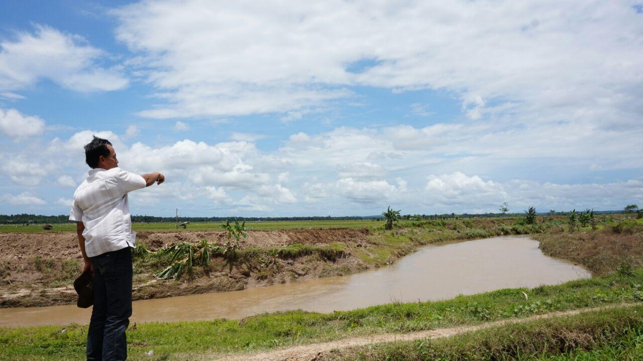 Petani Keluhkan Perbaikan Tanggul  Way Katibung