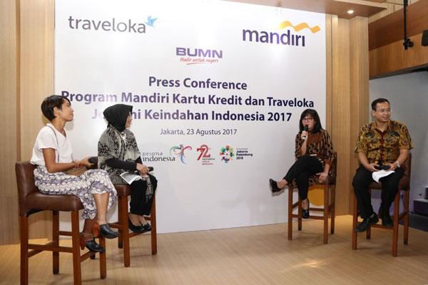 Bank Mandiri-Traveloka Kerja Sama Dukung Pariwisata Indonesia