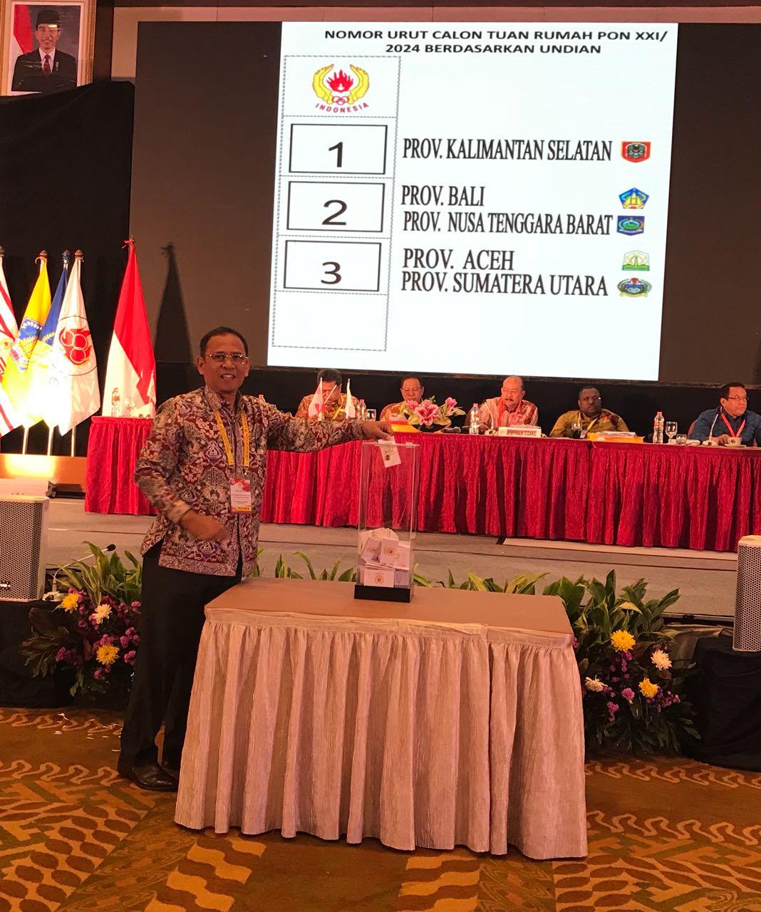 Musornaslub Tetapkan Aceh-Sumut Tuan Rumah PON 2024