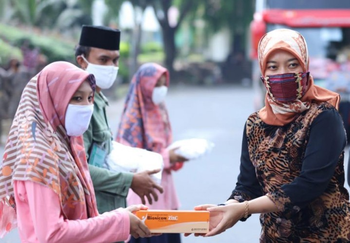 1.150 Santri Asal Lampung Kembali ke Pondok