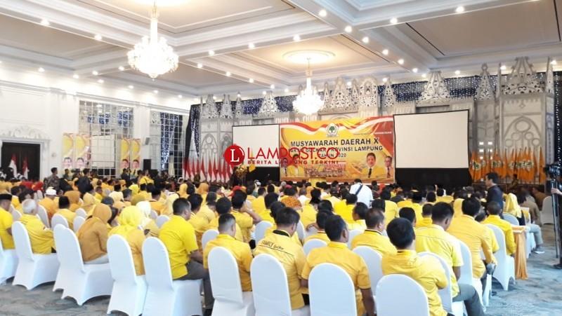 1.200 Kader Hadiri Musda Golkar Lampung