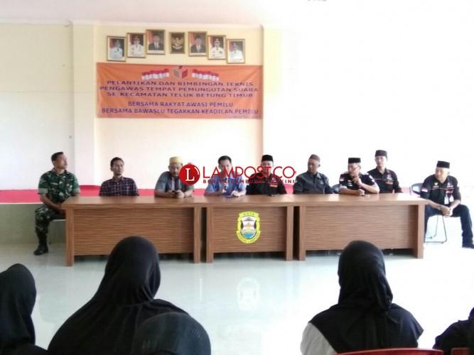 1.313 Pengawas TPS di Bandar Lampung Dikukuhkan Awasi Pencoblosan