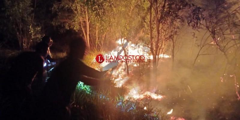 1 Ha Kawasan Wisata TNBBS Suoh Terbakar