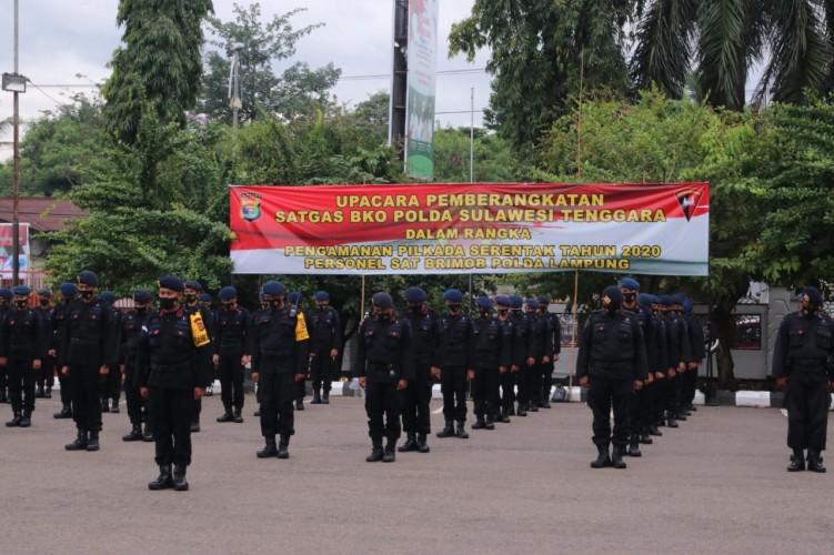 1 SSK Brimob Lampung BKO Pilkada ke Sulawesi Tengah