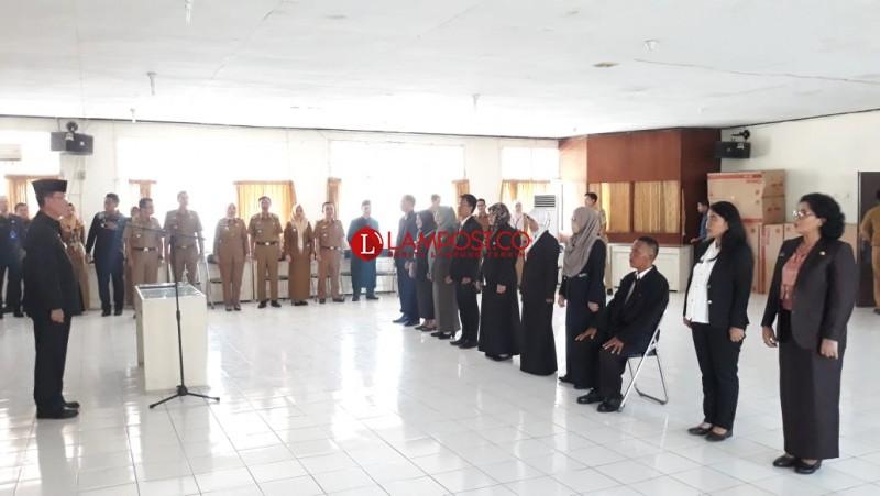 11 Pejabat Fungsional Pemprov Lampung Dilantik