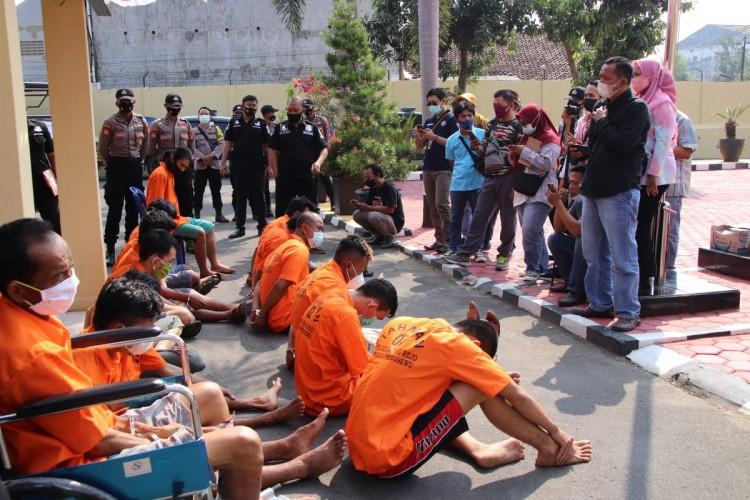 14 Penjahat Diringkus Polres Pringsewu, Dua Ditembak