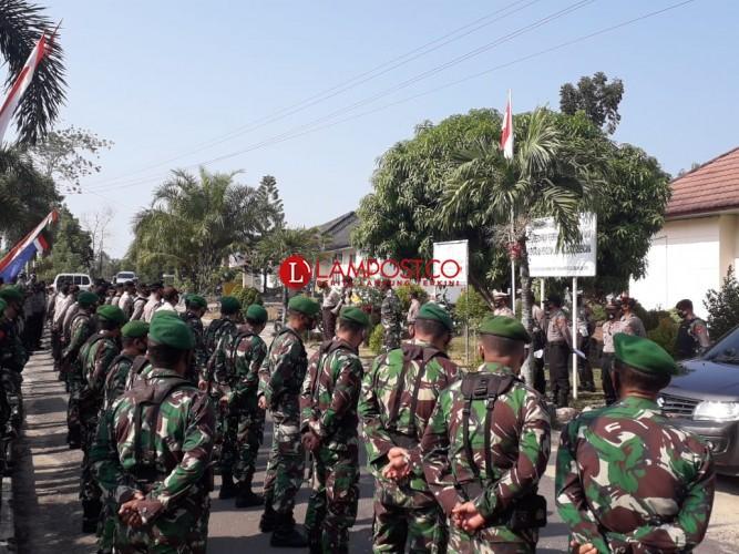 145 Personel TNI-Polri Amankan Pengundian Nomor Urut Paslon Pilkada Way Kanan