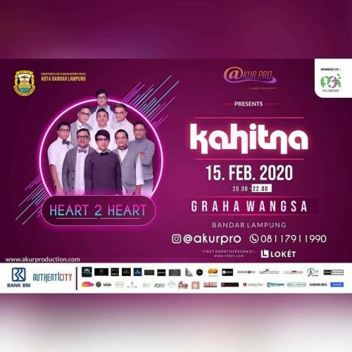 15 Februari, Kahitna Bakal Meriahkan Acara Heart 2 Heart di Bandar Lampung