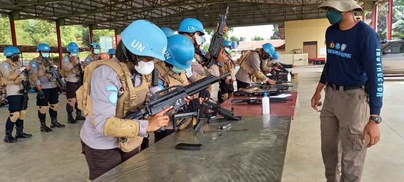 152 Anggota Garuda Polri Latihan Menembak Jarak Jauh untuk Misi Perdamaian PBB