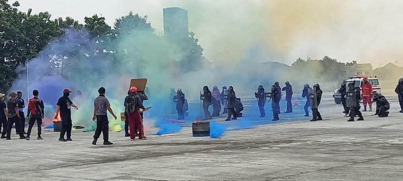 152 Personel FPU 3 Minusca Polri Latihan Hadapi Teror hingga Aksi Demonstran