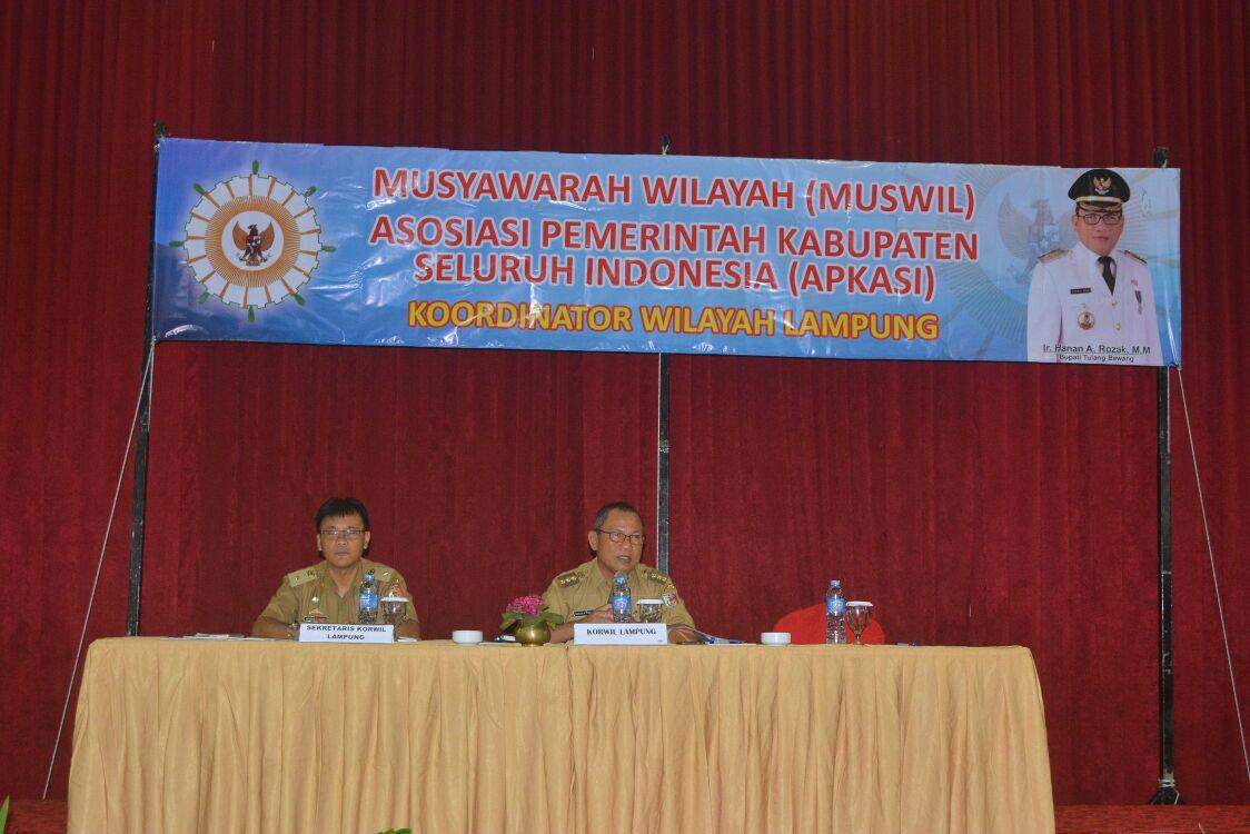Muswil Apkasi Lampung, Zainudin Hasan Terpilih Sebagi Ketua