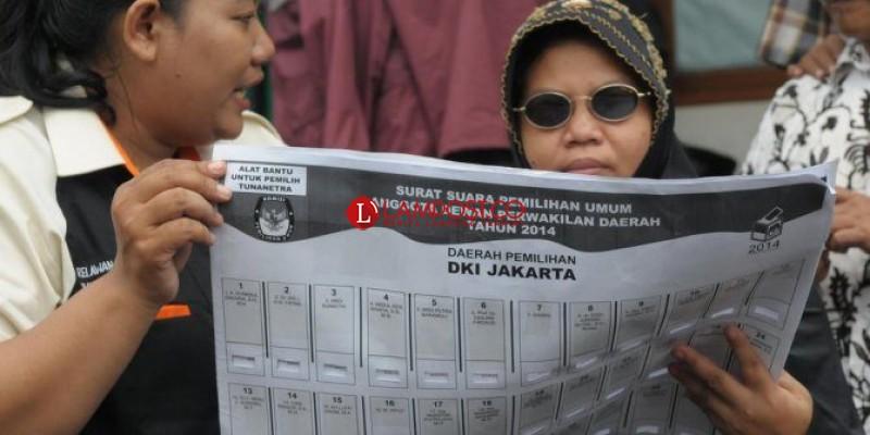 KPU Siapkan Surat Suara dan Template Pemilih Tunanetra