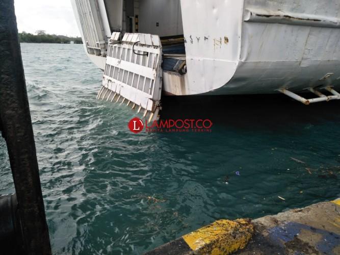 Pelayanan Dermaga III Pelabuhan Bakauheni Tutup Sementara
