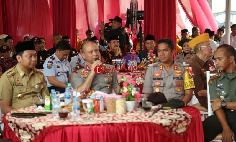 Wujudkan Pemilu Damai, Polda Lampung Kampanyekan Lawan Hoaks di Lampura
