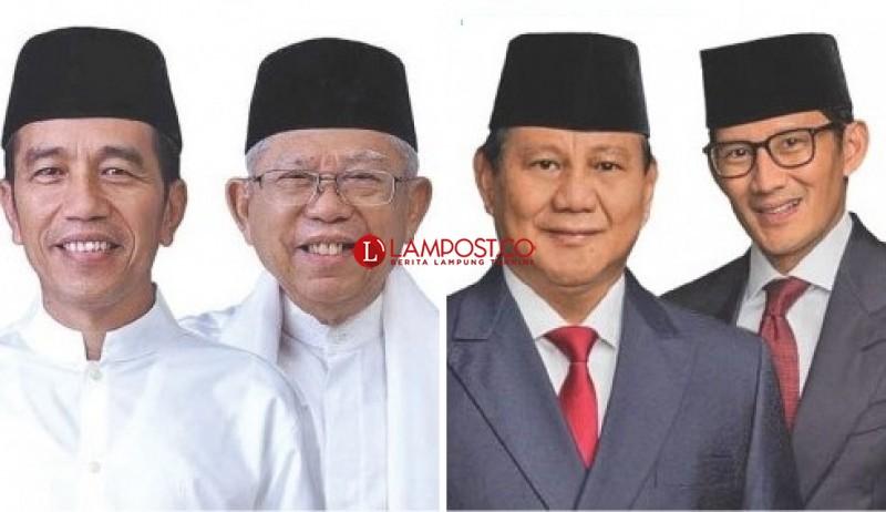 Kedua Capres dan Cawapres Kampanye Terbuka di Lampung