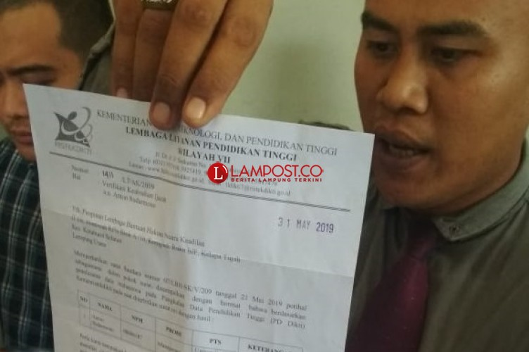 Tak Terdata Dipangkalan Dikti, Caleg Dilaporkan Pakai Ijazah Palsu