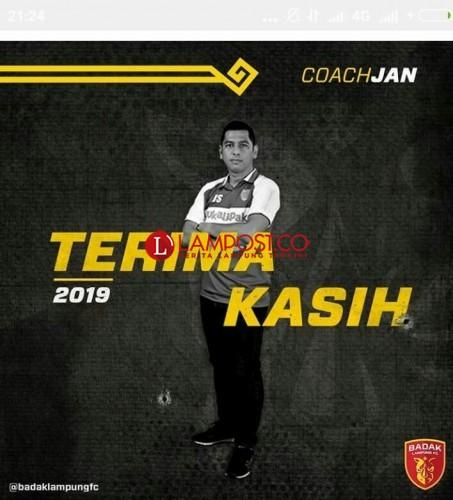 Dipecat Manajemen Badak Lampung, Ini Kata Coach Jan Saragih