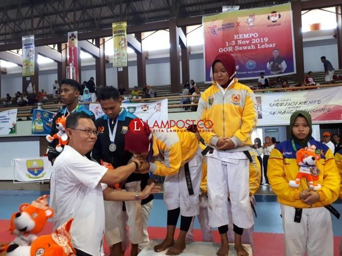 Atlet Kempo Lampung Raih Emas Perdana di Porwil X