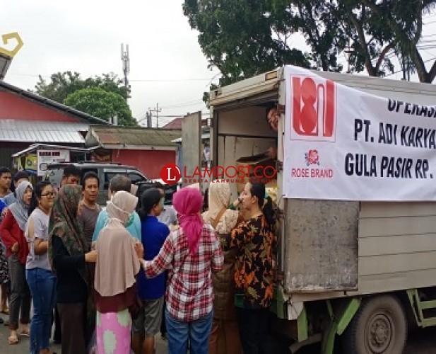 Operasi Pasar di Wayhalim, TPID Siapkan Dua Ton Gula Pasir