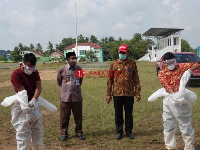 Lamteng Latih Gugus Tugas Kecamatan Pemulasaran Jenazah Covid-19