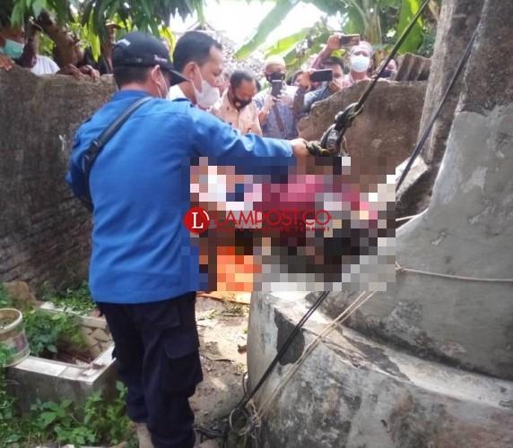 Warga Temukan Mayat Anonim Dalam Sumur di Kalianda