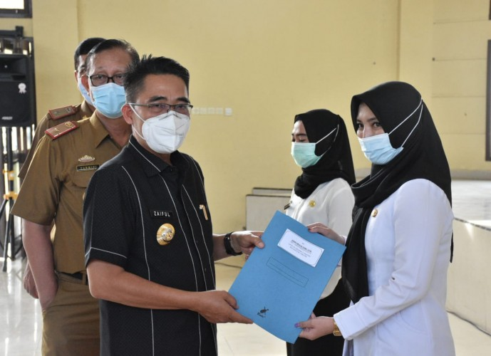 166 CPNS di Kabupaten Lamtim Terima SK Pengangkatan