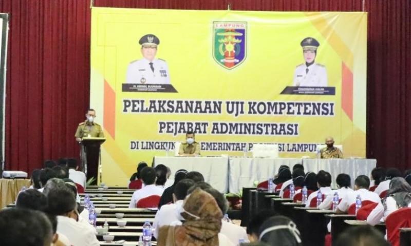 191 Pejabat Administrasi Pemprov Lampung Uji Kompetensi