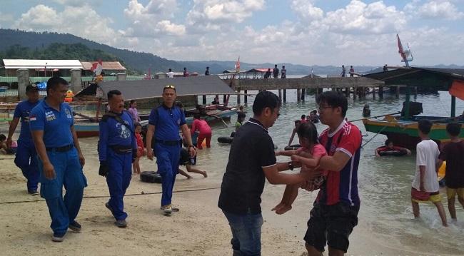 Libur Panjang Akhir Pekan, Sejumlah Wisata Pesisir Pesawaran Dipadati Pengunjung