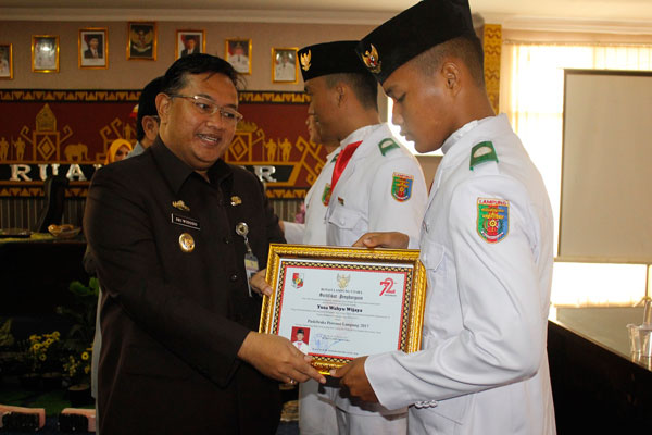 Paskibraka Lampung Utara Bertemu Wakil Bupati