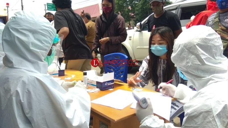 2.231 Orang Jalani Tes Rapid di Posko Perbatasan Bandar Lampung