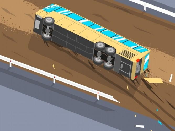 20 Orang Tewas Akibat Bus Terbalik di Iran