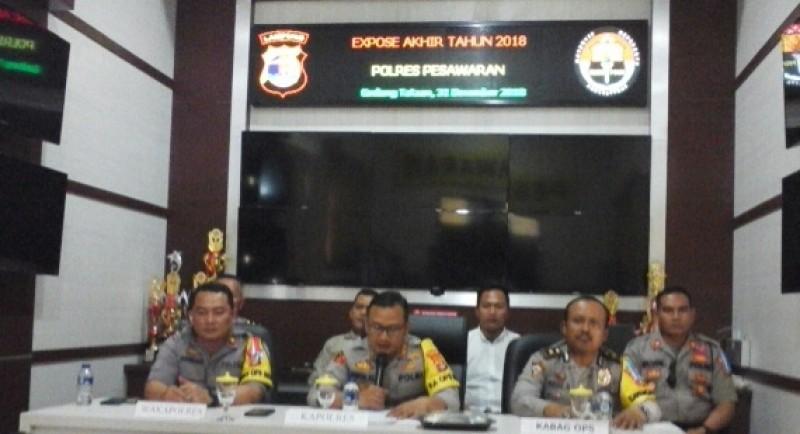 2018, Kasus Narkoba Menonjol di Polres Pesawaran