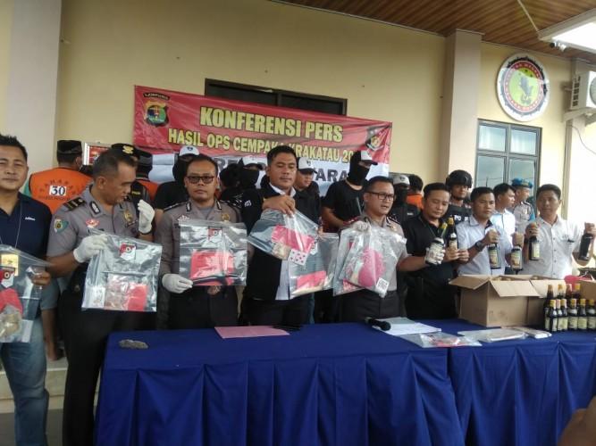 25 Pelaku Kriminal Tergaruk Operasi Cempaka di Pesawaran