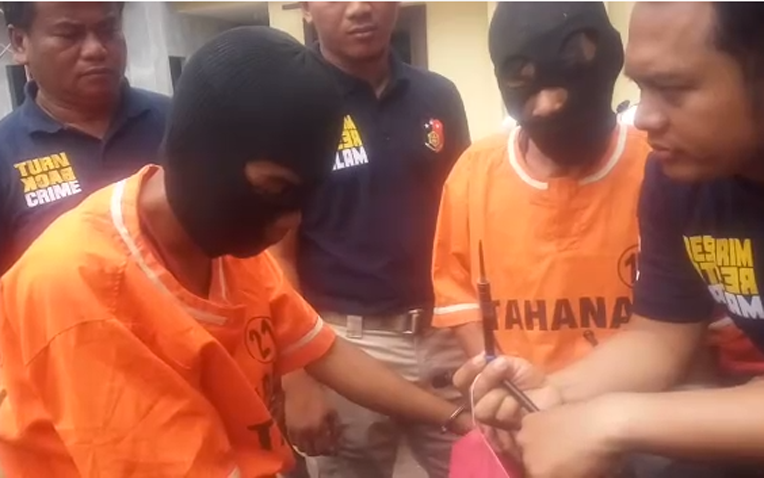 VIDEO:Tabrak Polisi, Dua Curanmor asal Kota Bumi Dibekuk di Natar