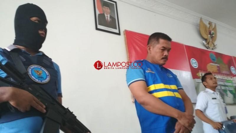 3 Kali Terima Aliran Dana, Kepala LP Kalianda Resmi jadi Tahanan BNNP