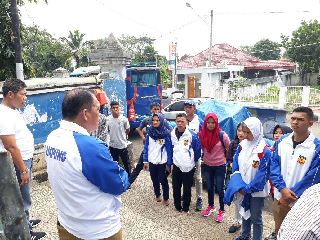 Jelang Piala Mendagri, Tim Karateka Lampung Jalani Latihan Ringan