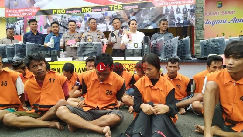 34 Penjahat Diringkus Selama Operasi Lilin di Lamsel