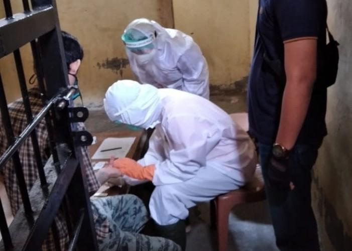 36 Tahanan Polsek Pesawaran Jalani <i>Rapid Test</i>