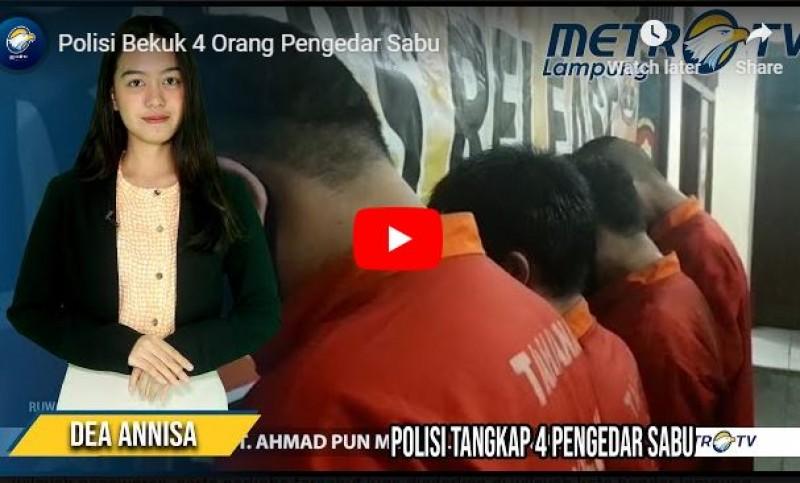 4 Pemuda Pemakai Sabu di Bumiwaras Digulung Polisi