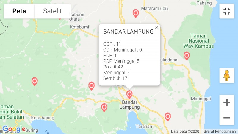 4 Warga Bandar Lampung Tambah Kasus Covid-19