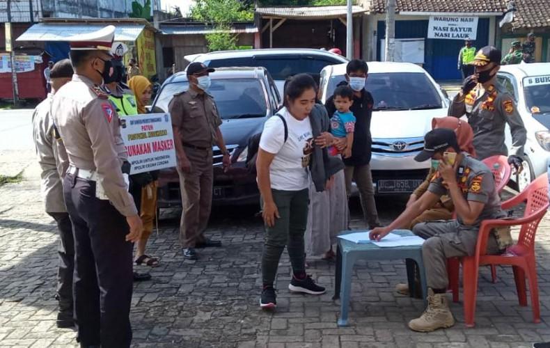 41 Pelanggar Protokol Kesehatan Ditindak Satgas Covid-19 Tanggamus