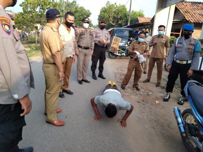 45 Pelanggar Prokes Terjaring Operasi Yustisi di Pringsewu