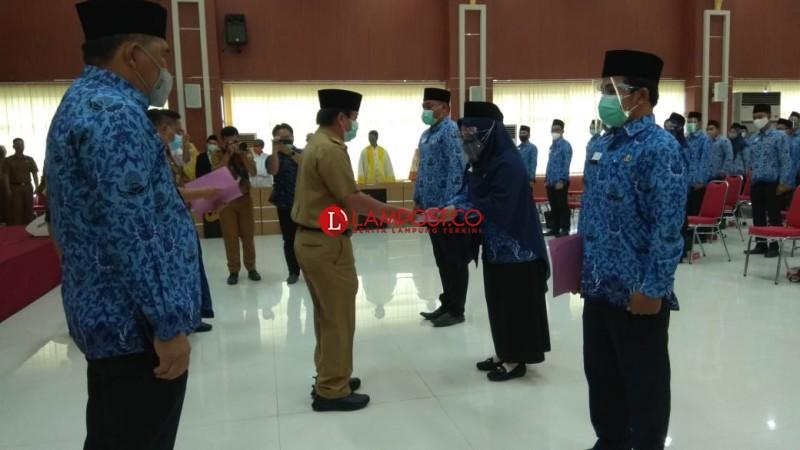450 CPNS Bandar Lampung Terima SK PNS