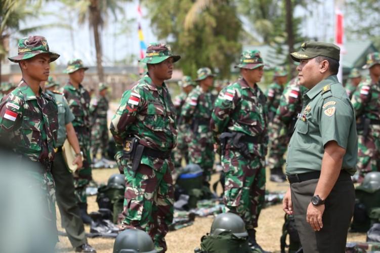 450 Prajurit Batalyon Infanteri 143 Siap Berangkat Jaga Keamanan Perbatasan Rawan Konflik