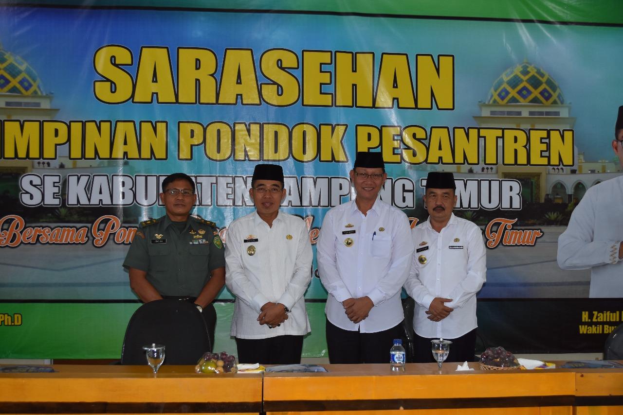 Wakil Bupati Zaiful BukaSarasehan Pimpinan Pondok Pesantren