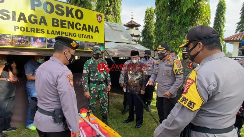 479 Personel Gabungan Siap Antisipasi Bencana Alam di Lampung Utara