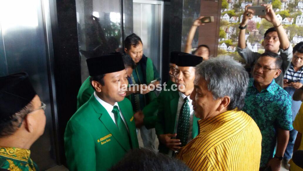 Arinal Sambut Romahurmuziy dan Rombongan DPP PPP