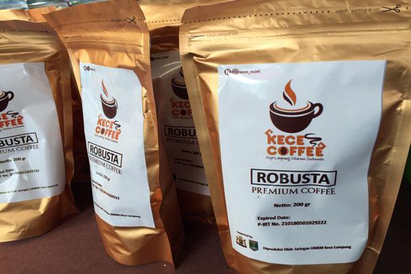 Produk Kece Kopi Robusta Lampung Tengah Menasional