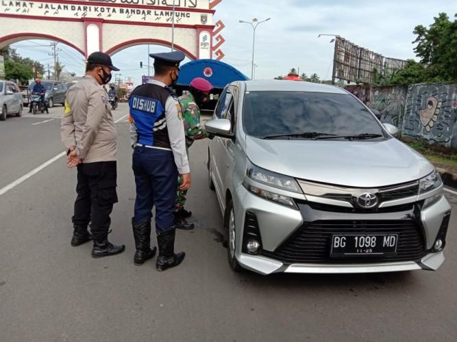 509 Kendaraan Luar Kota Dilarang Masuk Bandar Lampung