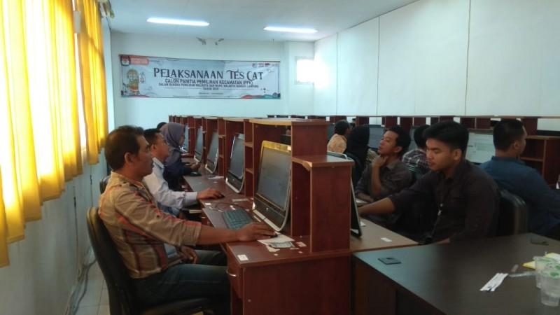 523 Calon PPK Bandar Lampung Ikuti Tes CAT
